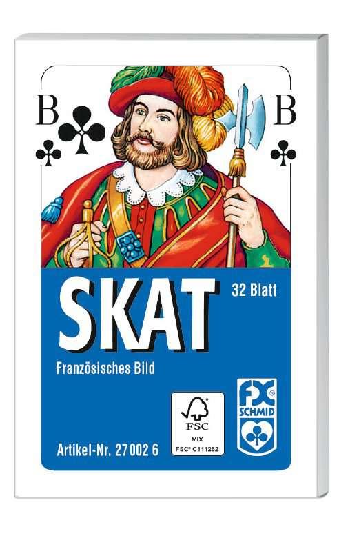 Klassisches Skatspiel, Französisches Bild, 32 Karten in der Faltschachtel