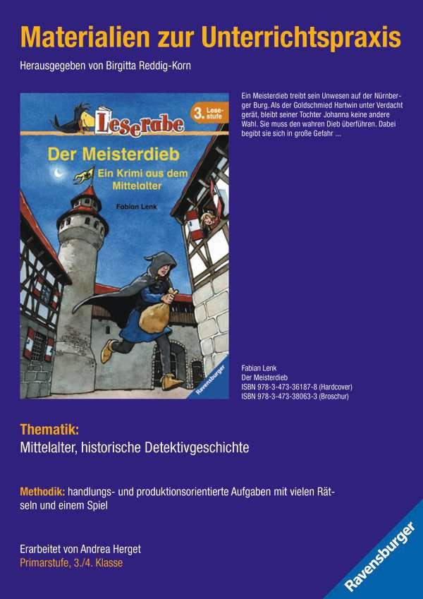 Materialien zur Unterrichtspraxis - Fabian Lenk: Der Meisterdieb (Schulausgabe in Broschur)