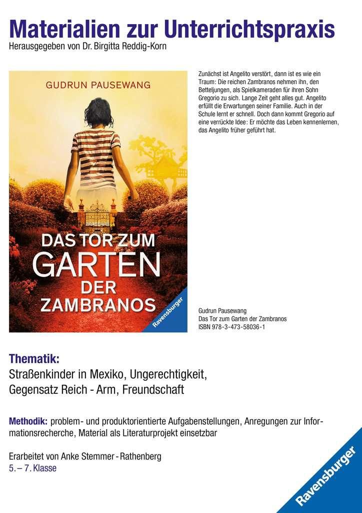 Materialien zur Unterrichtspraxis - Gudrun Pausewang: Das Tor zum Garten der Zambranos
