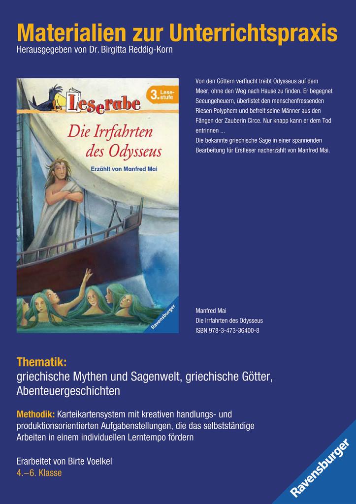 Materialien zur Unterrichtspraxis - Manfred Mai: Die Irrfahrten des Odysseus