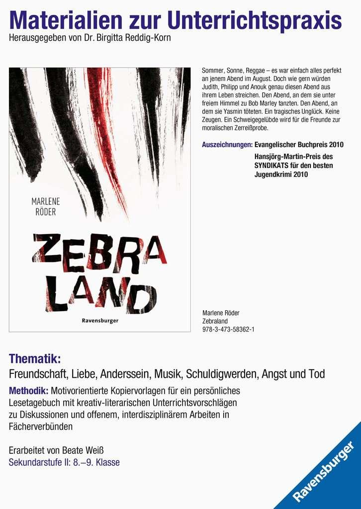 Materialien zur Unterrichtspraxis - Marlene Röder: Zebraland