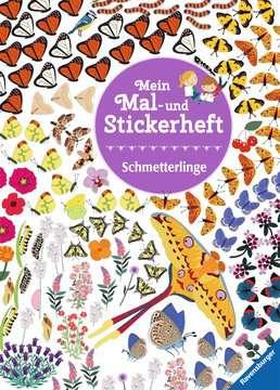 Mein Mal- und Stickerheft: Schmetterlinge