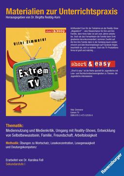 Materialien zur Unterrichtspraxis - Vitor Zimmerer: Extrem TV